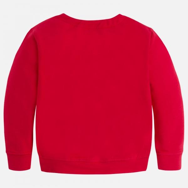 Bluza fleece cu flori Mayoral rosie