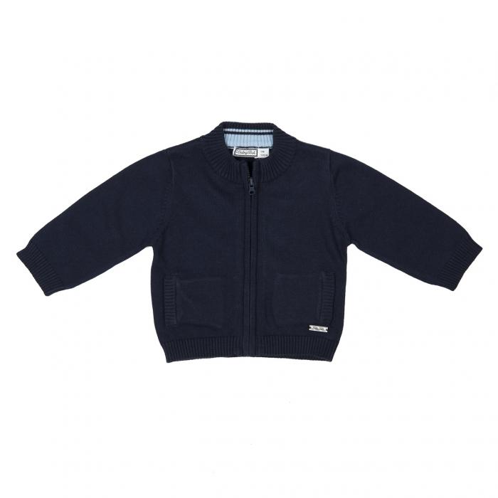 Cardigan tricot baiat Babybol, navy 0