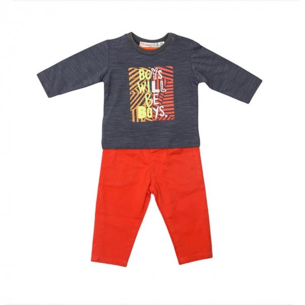 Compleu baieti tricou si pantaloni Babybol 0