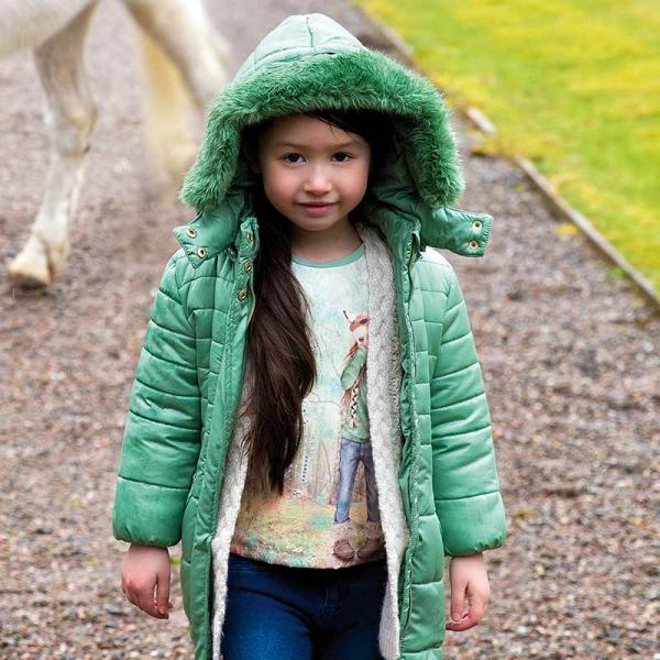 Geaca iarna fetite lunga Mayoral verde
