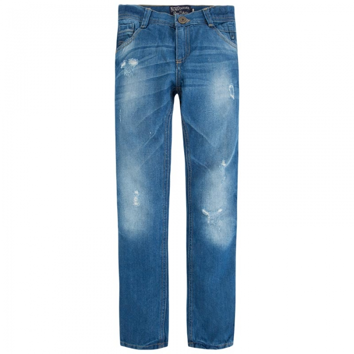 Pantalon jeans baiat, aspect uzat, Mayoral 0