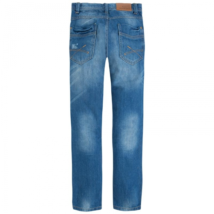 Pantalon jeans baiat, aspect uzat, Mayoral 1