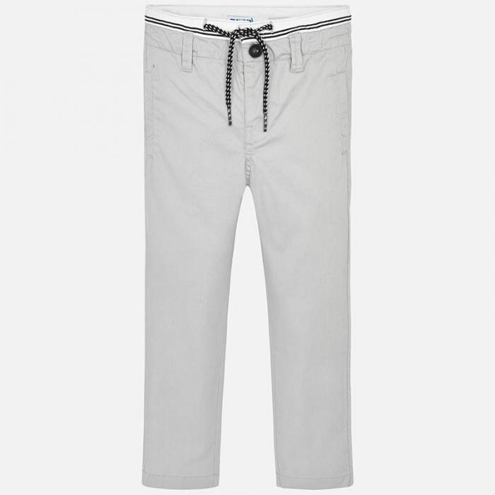 Pantalon lung baiat chino slim fit gri Mayoral 1
