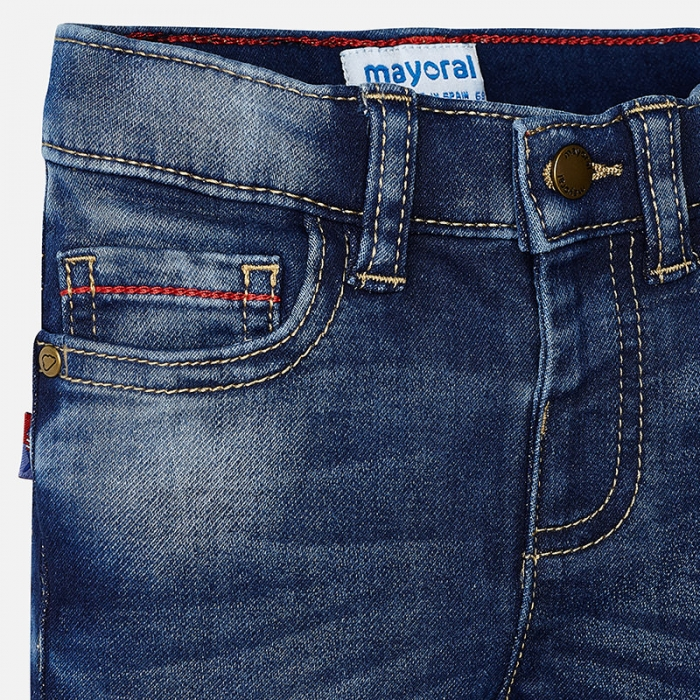 Pantalon lung baiat denim, Mayoral