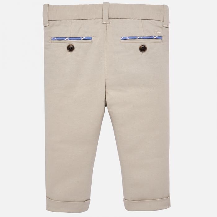Pantaloni eleganti baieti Mayoral Bej