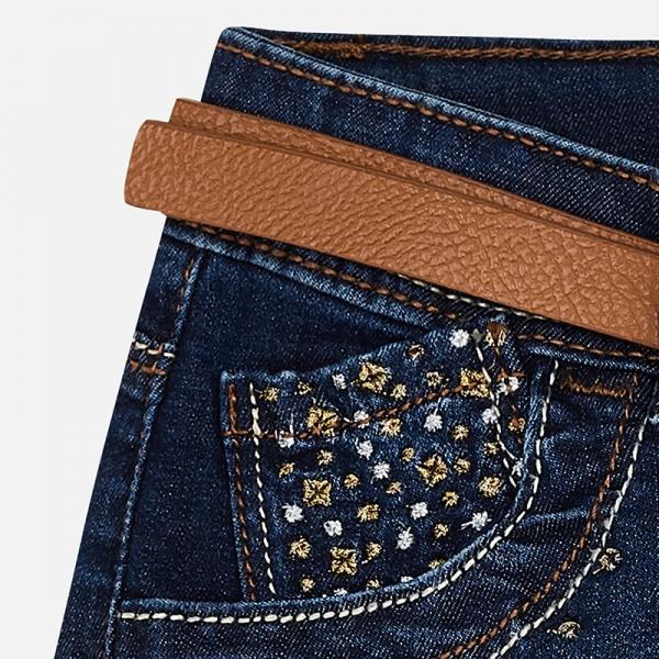 Pantaloni scurti jeans cu curea Mayoral denim