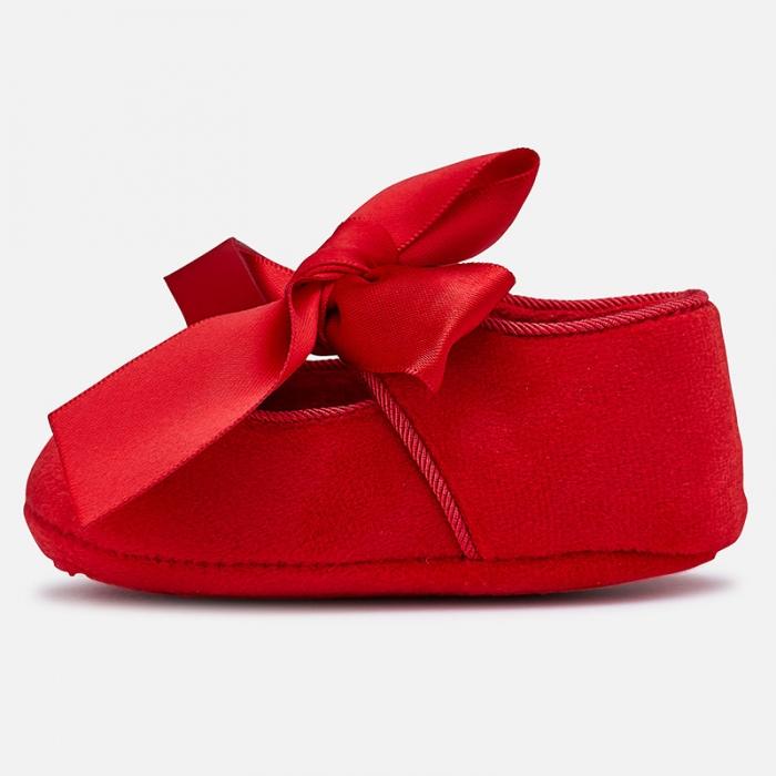 Pantofior bebe ceremonie cu funda, Mayoral