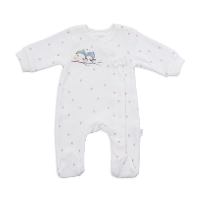 Salopeta bebeluse catifea Babybol
