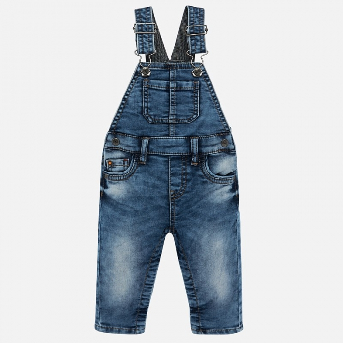 Salopeta lunga jeans bebe baiat Mayoral 0