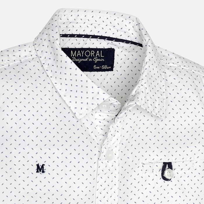 Set camasa si pantalon scurt navy Mayoral