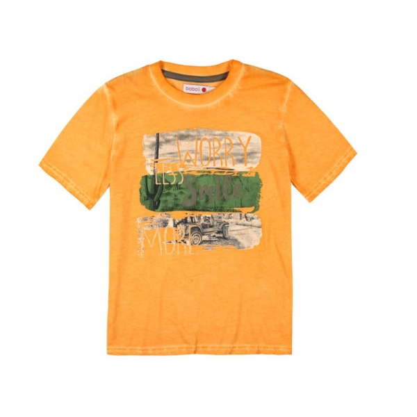 Tricou maneca scurta baiat orange Boboli