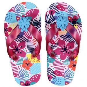 Papuci plaja cu flori Boboli