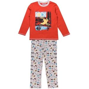 Pijama bumbac baiat Boboli orange