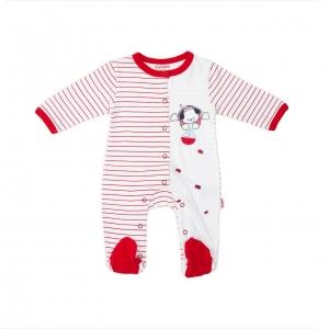 Salopeta bebe bumbac Babybol red
